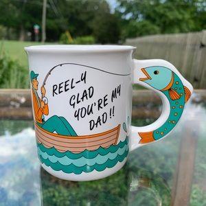 Vintage Kitchen - Vintage dad fisherman mug
